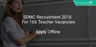 SDMC Recruitment 2018 Apply Online For 166 Teacher Vacancies