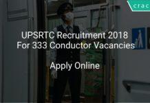UPSRTC Recruitment 2018 Apply Online For 333 Conductor Vacancies