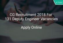 CG Recruitment 2018 Apply Online For 131 Deputy Engineer Vacancies