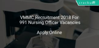VMMC Recruitment 2018 Apply Online For 991 Nursing Officer Vacancies