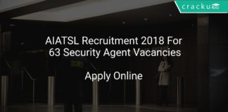 AIATSL Recruitment 2018 Apply Online For 63 Security Agent Vacancies