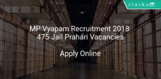MP Vyapam Recruitment 2018 Apply Online 475 Jail Prahari Vacancies