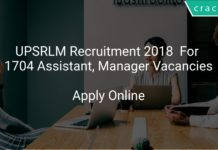 UPSRLM Recruitment 2018 Apply Online For 1704 Assistant, Manager Vacancies