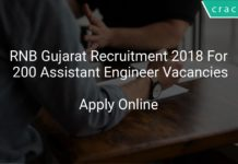 RNB Gujarat Recruitment 2018 Apply Online For 200 Assistant Engineer Vacancies