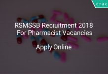 RSMSSB Recruitment 2018 Apply Online For Pharmacist Vacancies