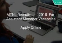 MTNL Recruitment 2018 Apply Online For Assistant Manager Vacancies
