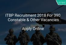 ITBP Recruitment 2018 Apply Online For 390 Constable & Other Vacancies