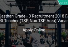 Rajasthan Grade - 3 Recruitment 2018 Apply Online For 26490 Teacher (TSP, Non TSP Area) Vacancies