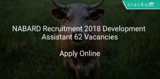 NABARD Recruitment 2018 Department Assistant 62 Vacancies Apply Online