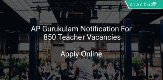 AP Gurukulam Notification Apply Online For 850 Teacher Vacancies