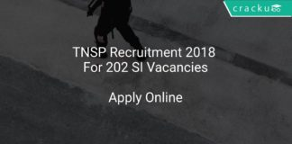 TNSP Recruitment 2018 Apply Online For 202 SI Vacancies