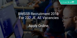 BWSSB Recruitment 2018 Apply Online For 232 JE, AE Vacancies