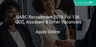 BARC Recruitment 2018 Apply Online For 136 UDC, Assistant & Other Vacancies