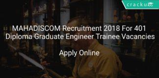 MAHADISCOM Recruitment 2018 Apply Online For 401 Diploma Graduate Engineer Trainee Vacancies