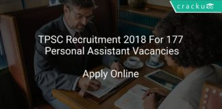 TPSC Recruitment 2018 Apply Online For 177 Personal Assistant Vacancies