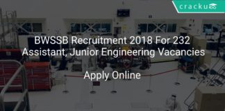 BWSSB Recruitment 2018 Apply Online For 232 Assistant, Junior Engineering Vacancies