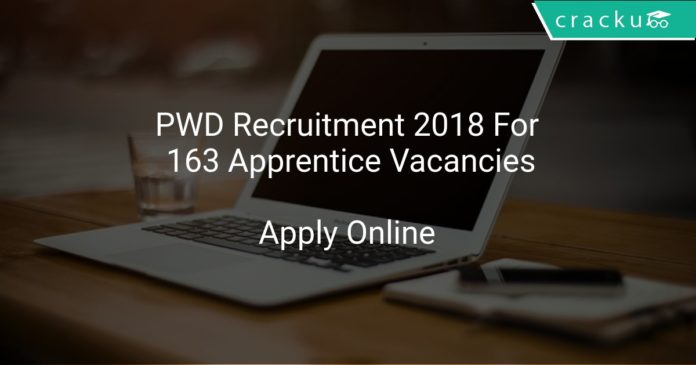 PWD Recruitment 2018 Apply Online For 163 Apprentice Vacancies