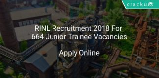 RINL Recruitment 2018 Apply Online For 664 Junior Trainee Vacancies
