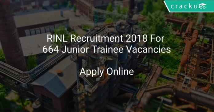 RINL Recruitment 2018 Apply Online For 664 Junior Trainee Vacancies