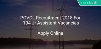 PGVCL Recruitment 2018 Apply Online For 104 Jr Assistant Vacancies
