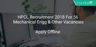 HPCL Recruitment 2018 Apply Online For 56 Mechanical Engineer & Other Vacancies