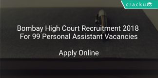 Bombay High Court Recruitment 2018 Apply Online For 99 Personal Assistant Vacancies