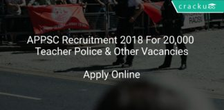 APPSC Recruitment 2018 Apply Online For 20,000 Teacher Police & Other Vacancies