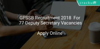 GPSSB Recruitment 2018 Apply Online For 77 Deputy Secretary Vacancies
