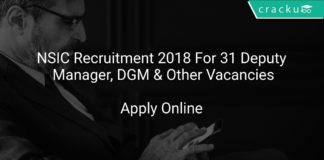 NSIC Recruitment 2018 Apply Online For 31 Deputy Manager, DGM & Other Vacancies