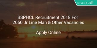 BSPHCL Recruitment 2018 Apply Online For 2050 Jr Line Man & Other Vacancies