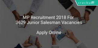 MP Recruitment 2018 Apply Online For 3629 Junior Salesman Vacancies
