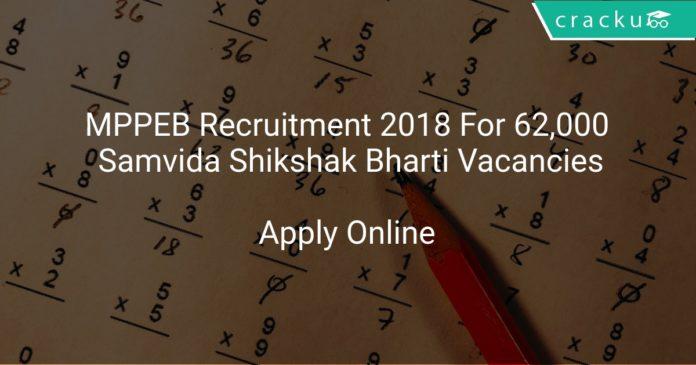 MPPEB Recruitment 2018 Apply Online For 62,000 Samvida Shikshak Bharti Vacancies