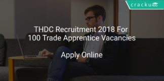 THDC Recruitment 2018 Apply Online For 100 Trade Apprentice Vacancies