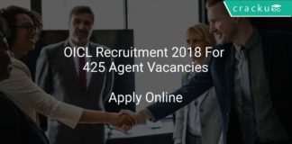 OICL Recruitment 2018 Apply Online For 425 Agent Vacancies