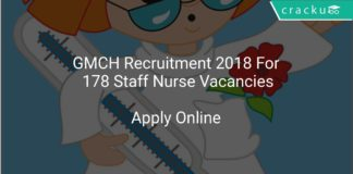 GMCH Recruitment 2018 Apply Online For 178 Staff Nurse Vacancies