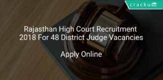 Rajasthan High Court Recruitment 2018 Apply Online For 48 District Judge Vacancies