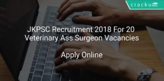 JKPSC Recruitment 2018 Apply Online For 20 Veterinary Assistant Surgeon Vacancies