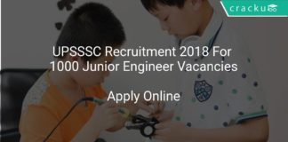 UPSSSC Recruitment 2018 Apply Online For 1000 Junior Engineer Vacancies