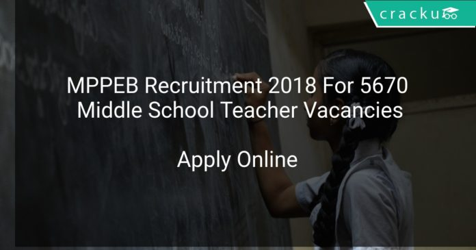 MPPEB Recruitment 2018 Apply Online For 5670 Middle School Teacher Vacancies