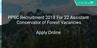 PPSC Recruitment 2018 Apply Online For 22 Assistant Conservator of Forest Vacancies