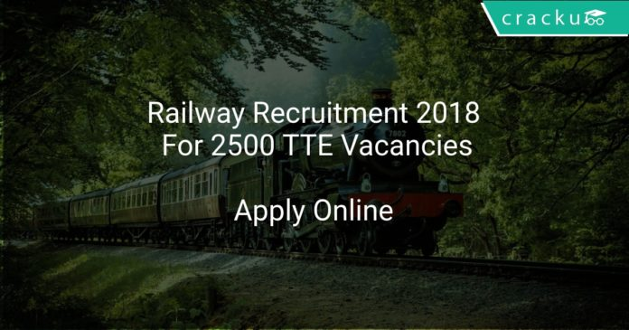 Railway Recruitment 2018 Apply Online For 2500 TTE Vacancies