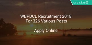 WBPDCL Recruitment 2018 Apply Online For 326 Various Posts