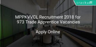 MPPKVVCL Recruitment 2018 Apply Online for 973 Trade Apprentice Vacancies