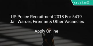 UP Police Recruitment 2018 Apply Online For 5419 Jail Warder, Fireman & Other Vacancies