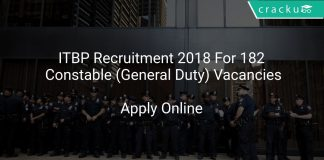 ITBP Recruitment 2018 Apply Online For 182 Constable (General Duty) Vacancies