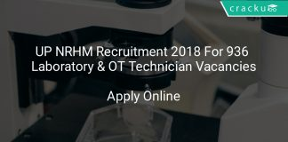 UP NRHM Recruitment 2018 Apply Online For 936 Laboratory & OT Technician Vacancies
