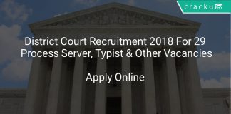 District Court Recruitment 2018 Apply Online For 29 Process Server, Typist & Other Vacancies