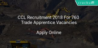 CCL Recruitment 2018 Apply Online For 760 Trade Apprentice Vacancies