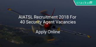 AIATSL Recruitment 2018 Apply Online For 40 Security Agent Vacancies