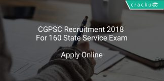 CGPSC Recruitment 2018 Apply Online For 160 State Service Exam